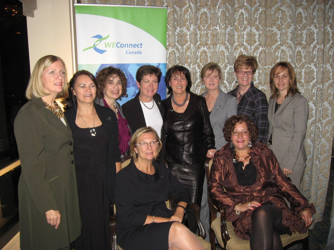 Award winners with WEConnect Canada Chair, Executive Director and Lead Strategist for WBEs.