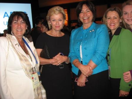 Barbara, Tina Brown, NZ Minister Hekia Parata, Amanda Ellis, Alyse Nelson