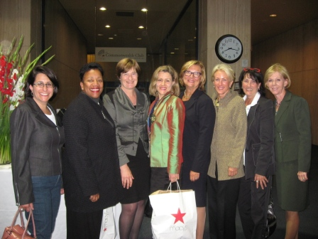 Shereen Miller, Cassandra Pye, Maxine Simmons, Amanda Ellis, Leslie Meingast, Julie Betwee, Barbara, Anne Blackburn at Cherie Blair's event in DC October 2011