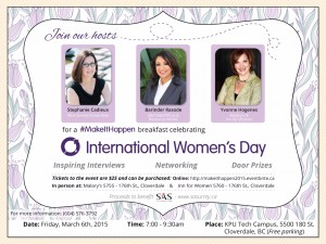 Invitation to International Women's Day Breakfast