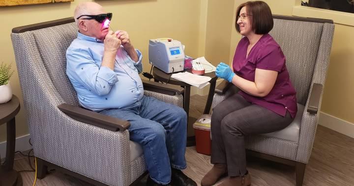 Coronavirus-Noses-being-sanitized-at-an-Edmonton-seniors-home-odine-biomedical-groyourbiz-carolyn-cross-global-news