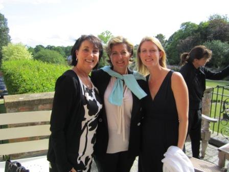 Barbara, Vivien, Gillian at CB Foundation for Women Mtg.