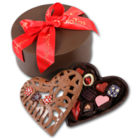 Chocolate Lace Heart & Gift Box