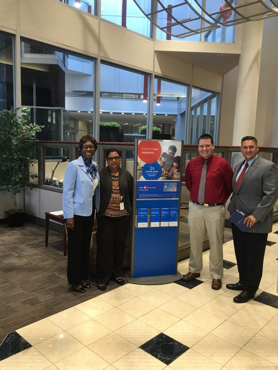 Sabina Anthony Perez and staff at BMO Harris Tampa Bay