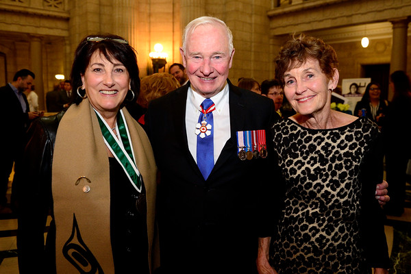 GG02-2016-0443-057 November 15, 2016 Winnipeg, Manitoba, Canada  His Excellency the Right Honourable David Johnston, Governor General of Canada, presented the Governor General's Awards in Commemoration of the Persons Case to six laureates, on Tuesday, November 15, 2016, at the Manitoba Legislative Chamber.  Credit: MCpl Vincent Carbonneau, Rideau Hall, OSGG