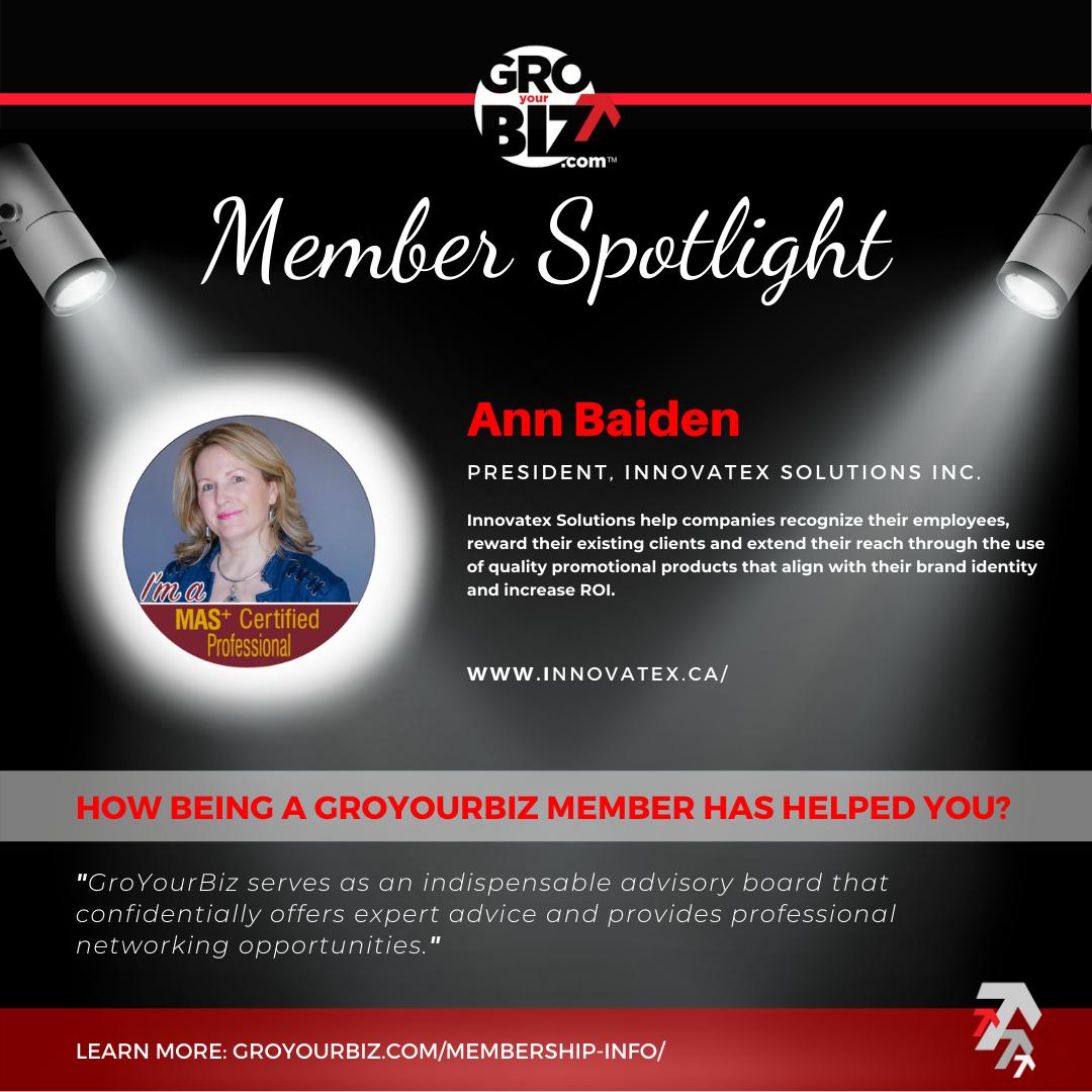 Ann Baiden GroYourBiz Member Spotlight