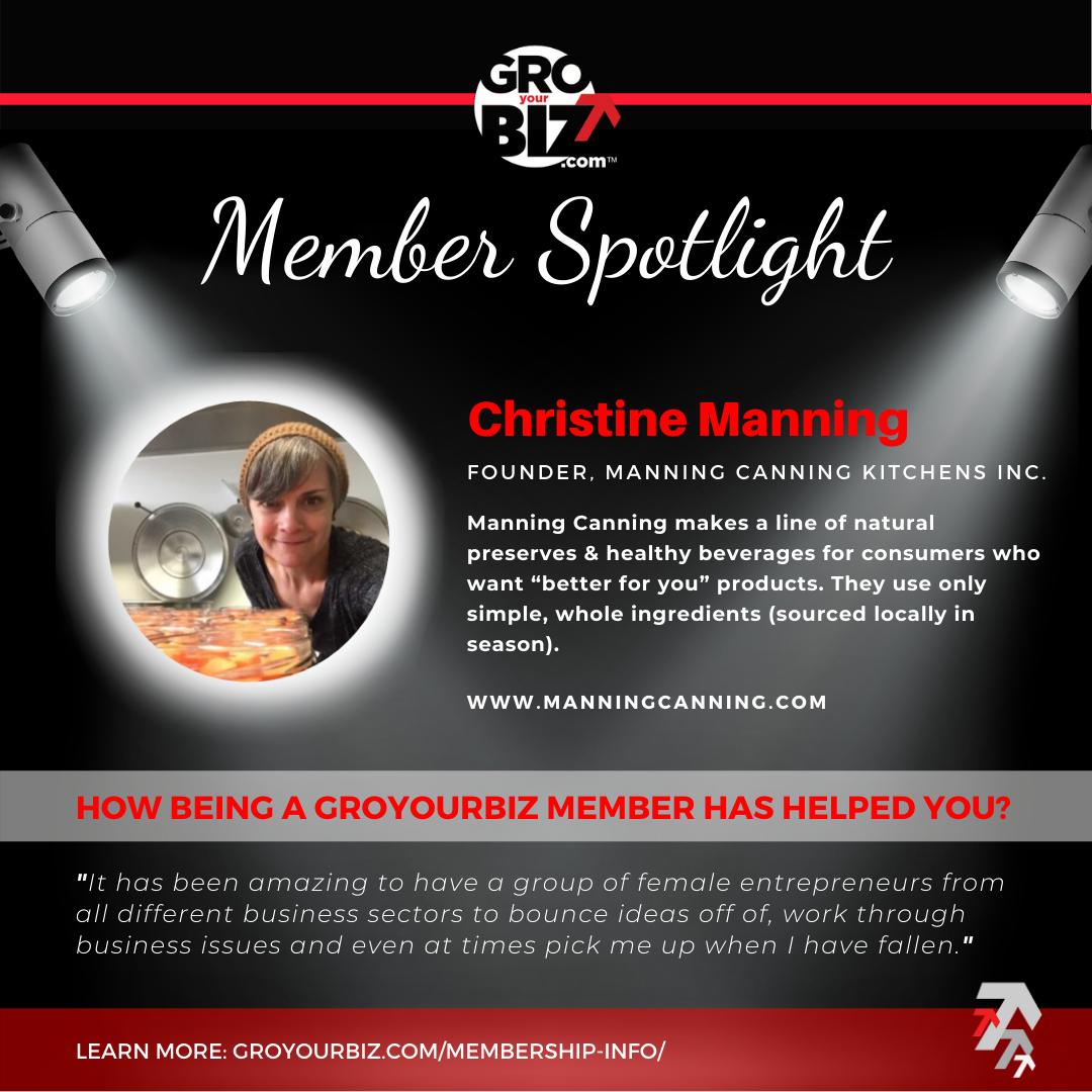 Christine Manning GroYourBiz Member Spotlight
