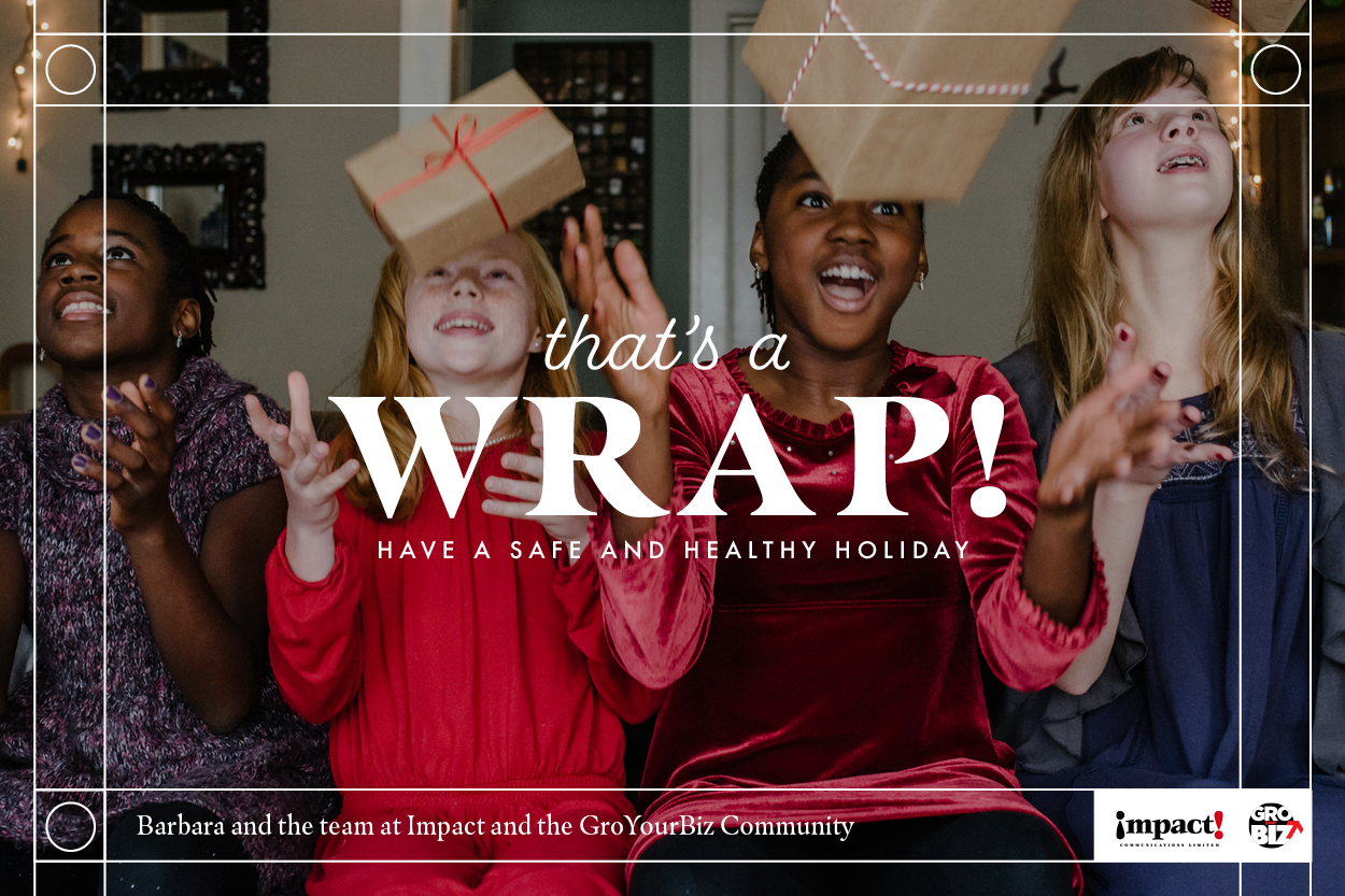 That's A Wrap Holiday Card GroYourBiz