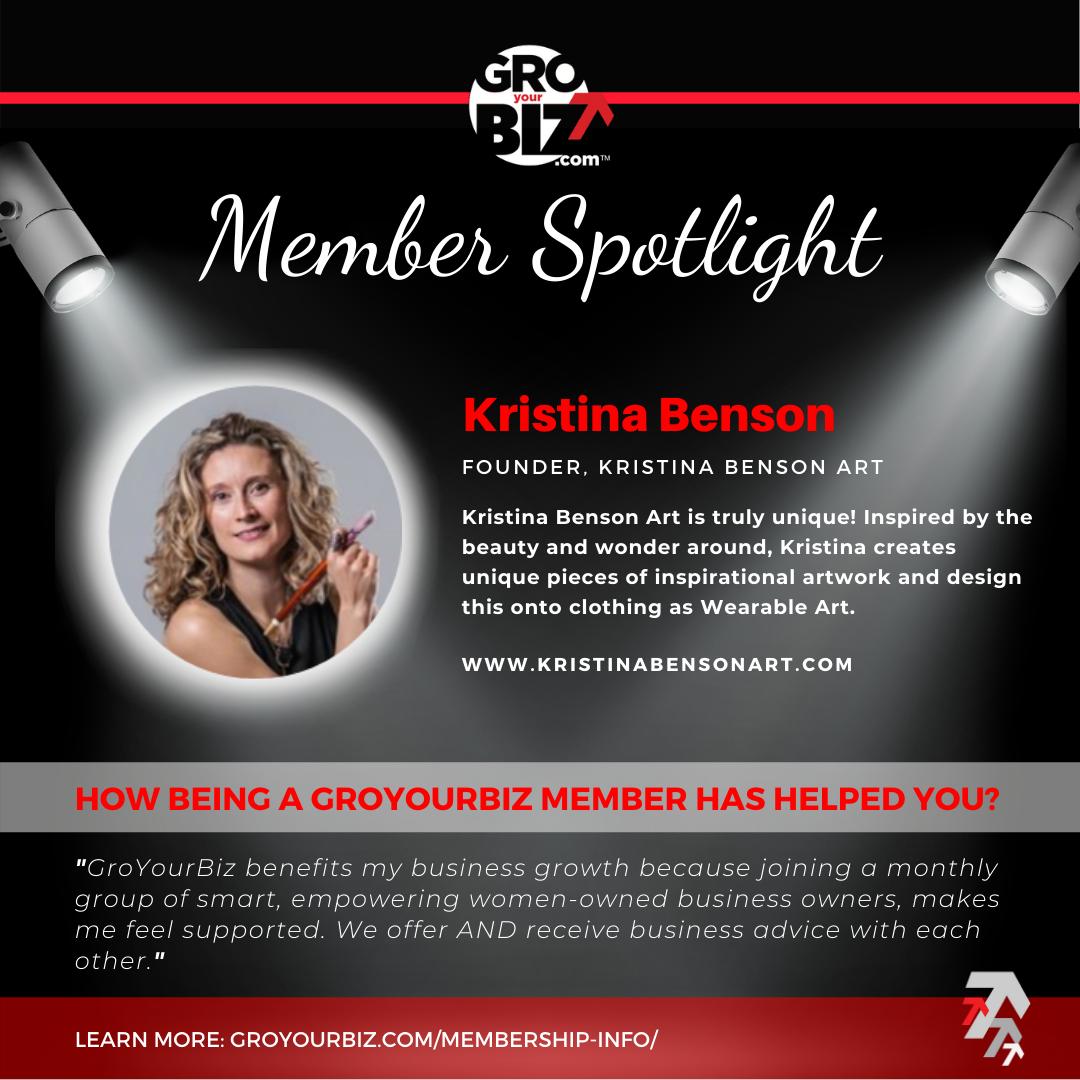 Kristina Benson GroYourBiz Member Spotlight