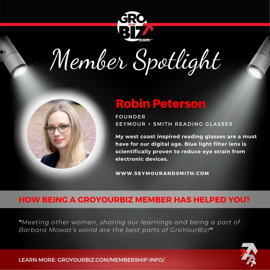 Robin Peterson GroYourBiz Member Spotlight