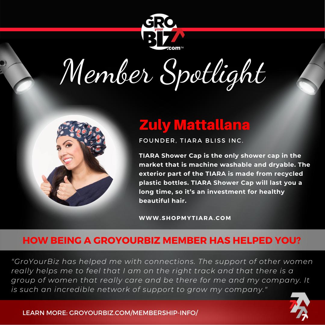 Zuly Mattallana GroYourBiz Member Spotlight