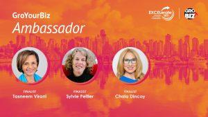 GroYourBiz Ambassador Award Finalists