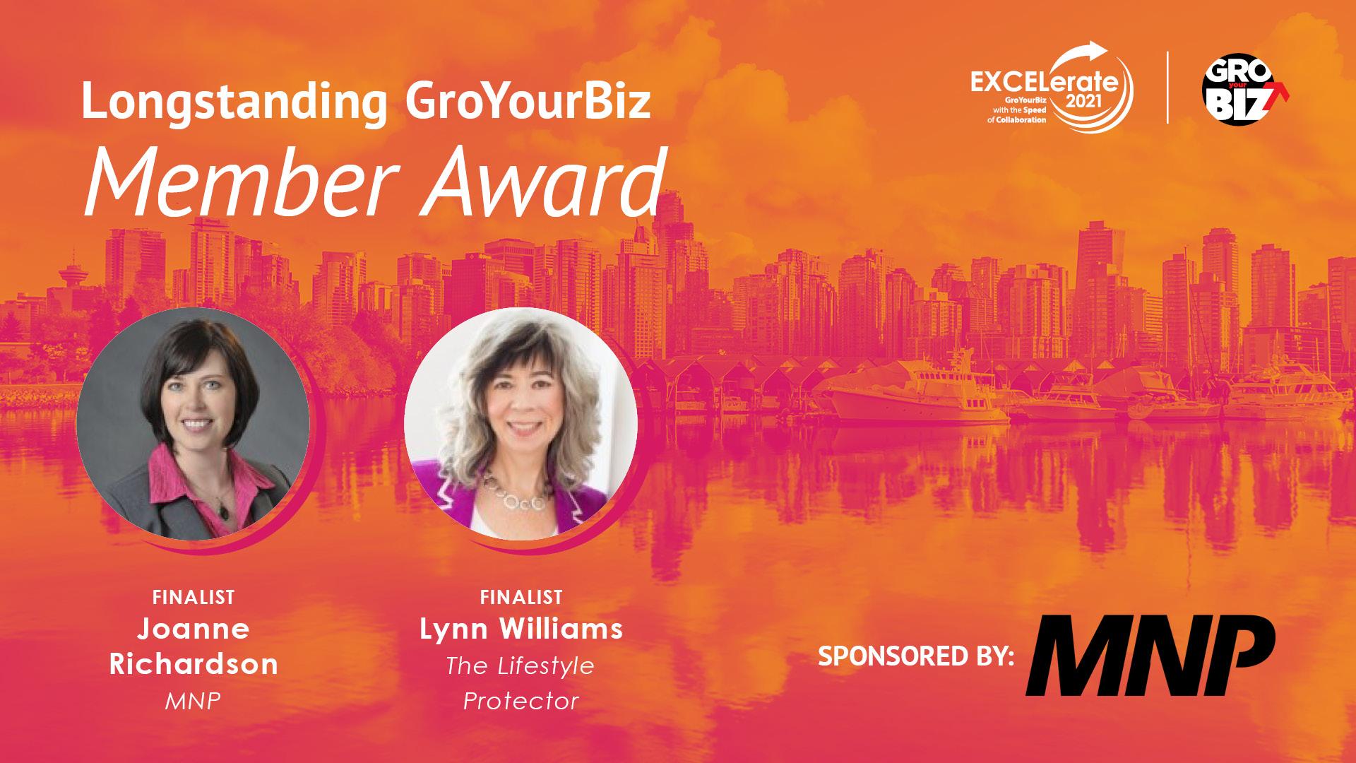 Longstanding GroYourBiz Member Award Finalists