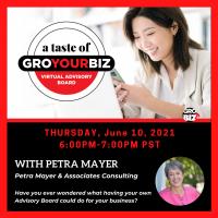 A Taste of GroYourBiz With Petra Mayer June 10