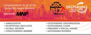 EXCELerate2021 Congratulations to all of the GroYourBiz Award Winners Banner
