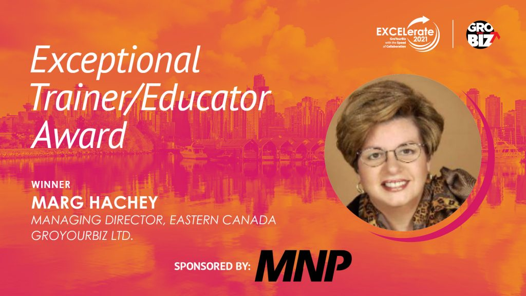 Exceptional Trainer-Educator Award Winner Marg Hachey