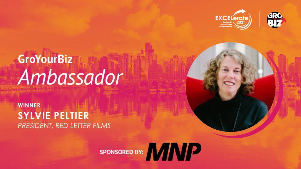 GroYourBiz Ambassador Award Winner Sylvie Peltier