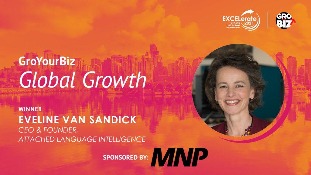 GroYourBiz Global Growth Award Winner Eveline Van Sandick