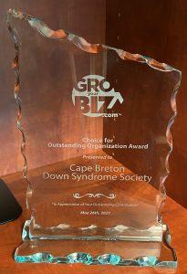 GroYourBiz Outstanding Organization Award Cape Breton Down Syndrome Society