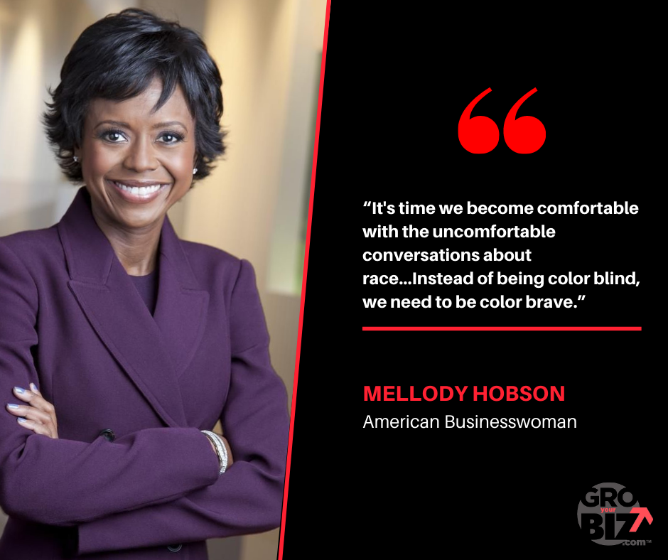 It's time we become comfortable with the uncomfortable conversations about race Mellody Hobson Quote