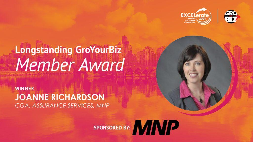 Longstanding GroYourBiz Member Award Winner Joanne Richardson