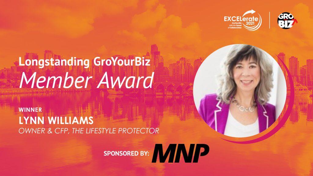 Longstanding GroYourBiz Member Award Winner Lynn Williams