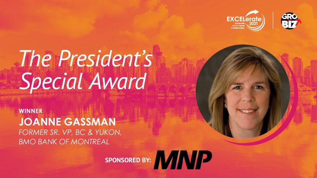 The President's Special Award Winner Joanne Gassman