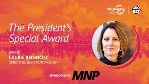 The President's Special Award Winner Laura Reinholz