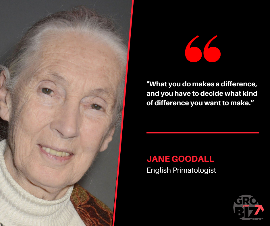 What you do makes a difference, and you have to decide what kind of difference you want to make - Jane Goodall