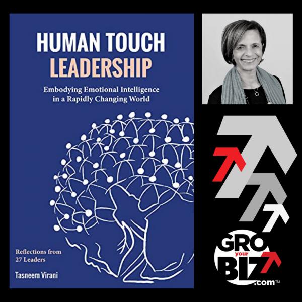 2 GroYourBiz Members launch book Tasneem Virani Human Touch Leadership women entrepreneur book launch