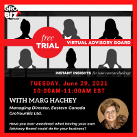 GroYourBiz 1HR Advisory Board Free Trial with Marg Hachey June 29